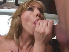 Anal, Blonde, MILF, Old and Young, Kitchen