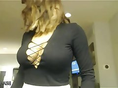 Big Boobs, Lingerie, Masturbation, Webcam