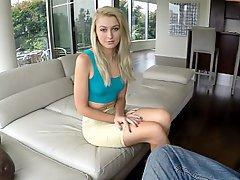 Whore, Blonde, POV, Webcam