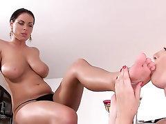 Babe, Big Tits, Blowjob, Feet
