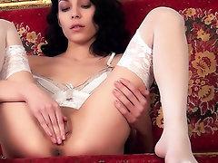 Babe, Masturbation, Panties, Stockings