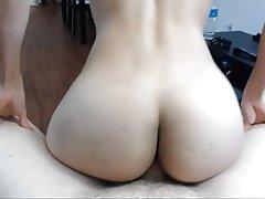 Amateur, Blowjob, Brunette, POV, Small Tits